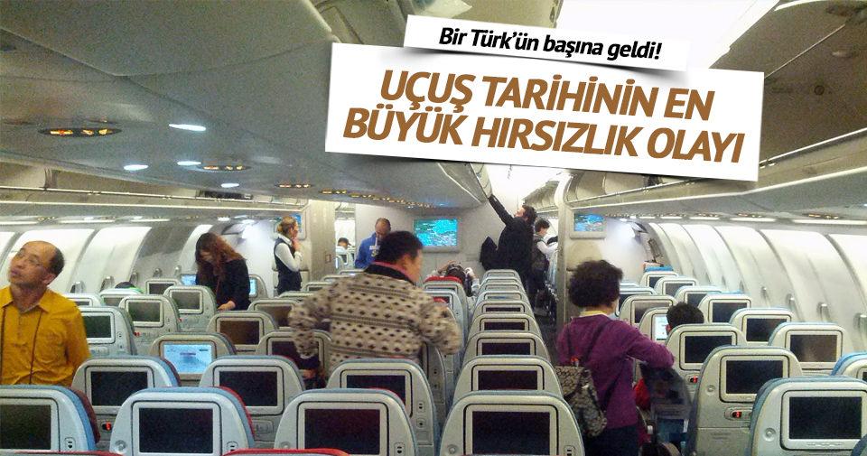 Uçuş sırasındaki en büyük hırsızlık bir Türk'ün başına geldi