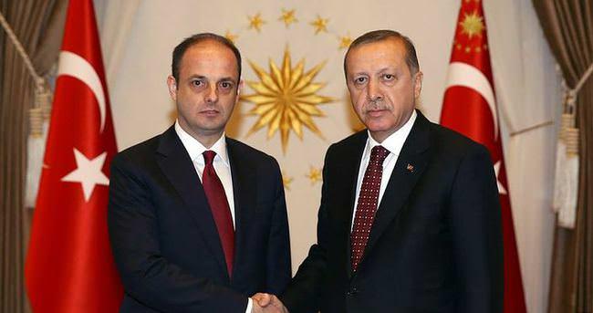 Erdoğan Çetinkaya ile görüştü