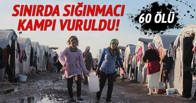 Sınırda sığınmacı kampı vuruldu: 60 ölü