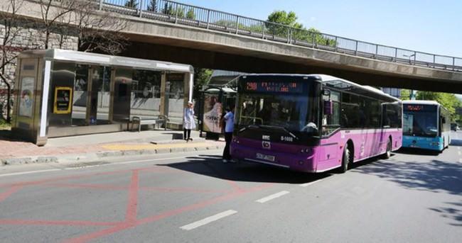 Otobüs duraklarında bir ilk