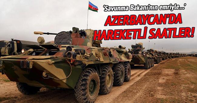 Azerbaycan ordusu tatbikata başladı!