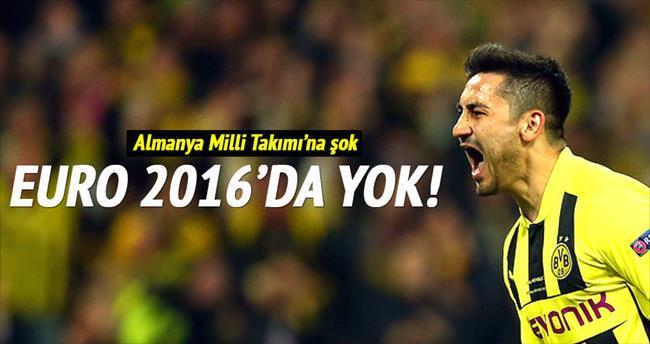 İlkay Gündoğan Euro 2016'da yok