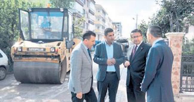 Başkan Tiryaki asfalt denetiminde