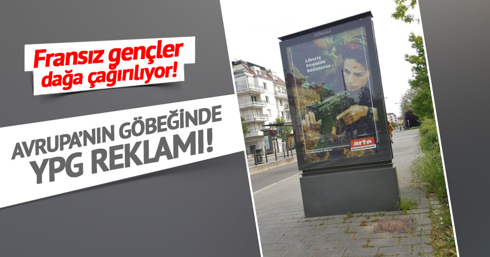 Fransa'da YPG reklamı!
