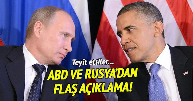 ABD ve Rusya'dan ortak Suriye açıklaması!