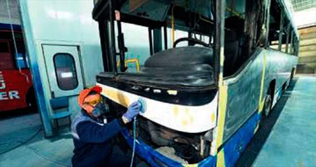 EGO otobüslerine modern atölye