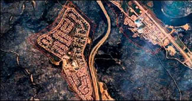 Kanada'da yangın uydu görüntüsünü değiştirdi