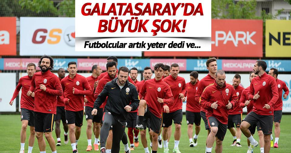 Galatasaray'da oyuncular idmana çıkmayabilir