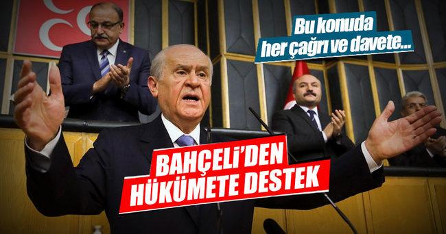 Bahçeli'den hükümete hukuki destek