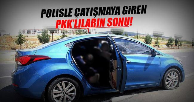 Şanlıurfa'da otomobildeki PKK'lılar polise ateş açtı