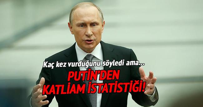 Putin katliamın istatistiklerini verdi!