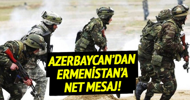 Azerbaycan ordusundan cephe hattında tatbikat!