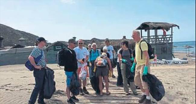 İngilizler Patara sahilini temizledi