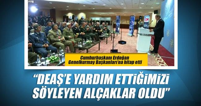 Cumhurbaşkanı Erdoğan Genelkurmay Başkanlarına hitap etti