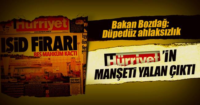 Bakan Bozdağ'dan Hürriyet'in algı operasyonuna sert cevap!
