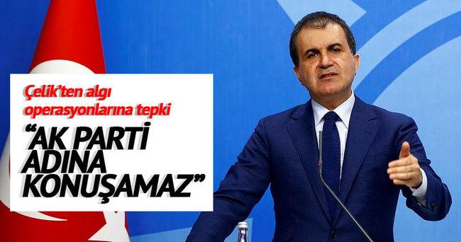 Ömer Çelik: Hiç  kimse AK Parti'nin onayını almadan AK Parti adına konuşamaz.