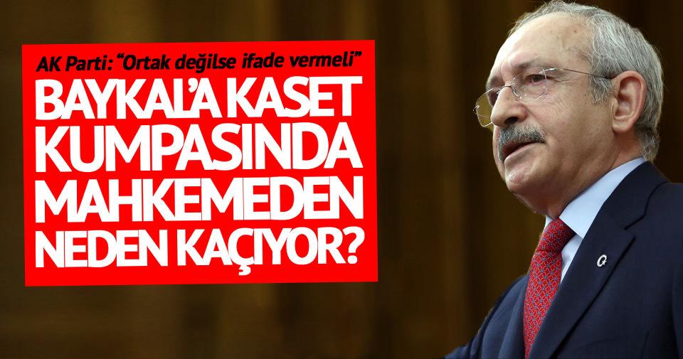 Baykal'a kaset olayında Kılıçdaroğlu ifade vermeyecek!