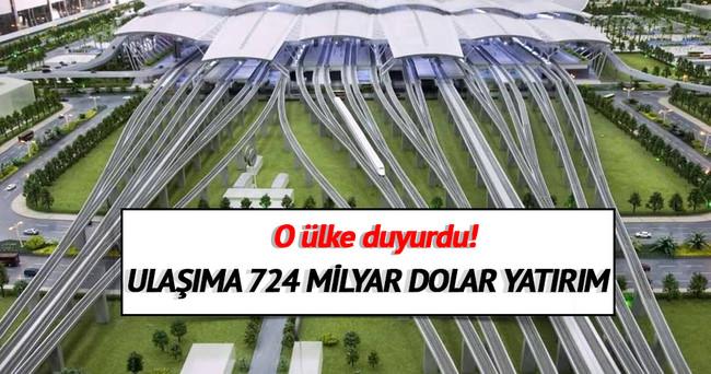 Çin'den ulaşıma 724 milyar dolar yatırım