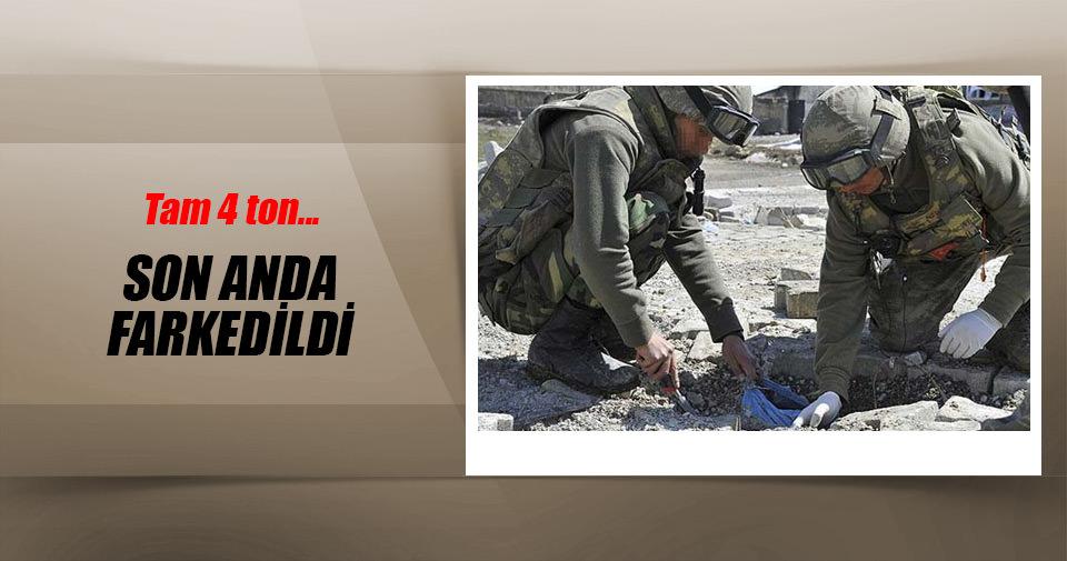 Şırnak'ta 4,5 ton patlayıcı imha edildi