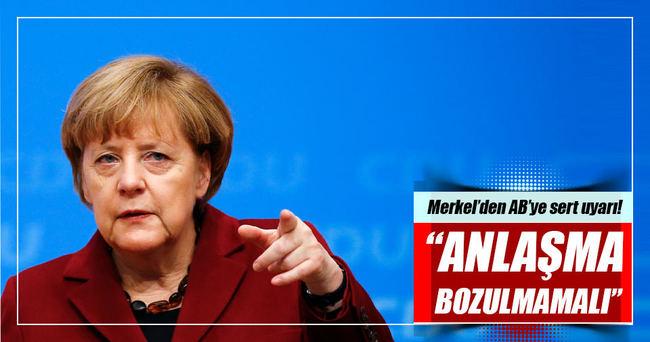 Merkel'den AB'ye uyarı!