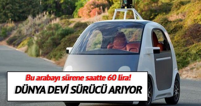 Google sürücüsüz otomobili için sürücü arıyor