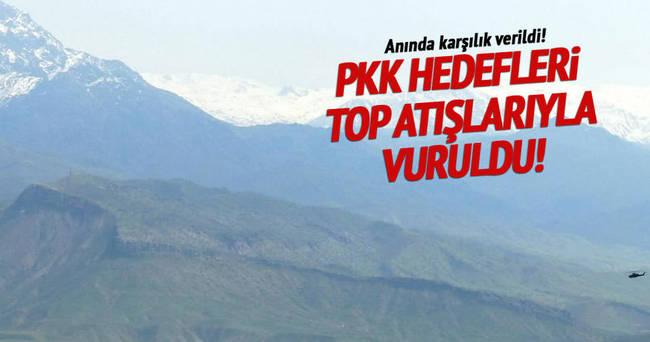 PKK hedefleri toplarla vuruldu!