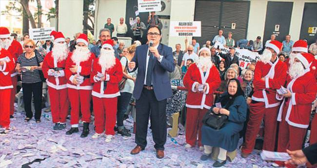'Noel Babalı' protesto