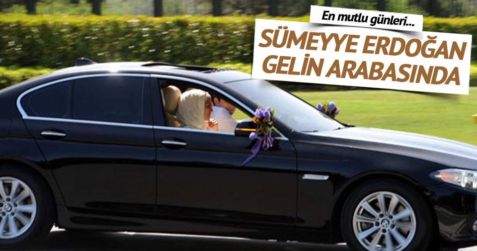 Sümeyye Erdoğan gelin arabasında