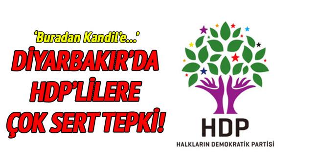 Diyarbakır'daki taziye evinde HDP'lilere tepki