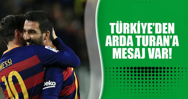 TFF'den Arda Turan'a tebrik mesajı