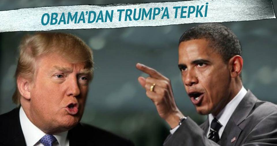 Obama'dan Trump'ın Müslümanlarla ilgili sözlerine tepki