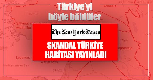 New York Times Türkiye'yi bölen haritayı yayınladı