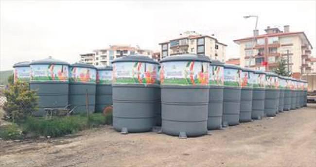 Pursaklar'a yeni yeraltı çöp konteynırları