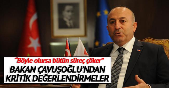 Bakan Çavuşoğlu'ndan 'Suriye' açıklaması