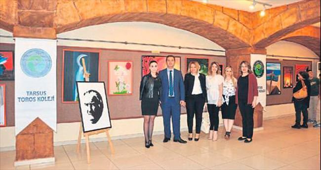 Özel Toros Okulları resim sergisi açtı