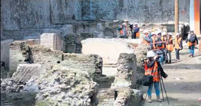 Metro kazısından Roma kışlası çıktı