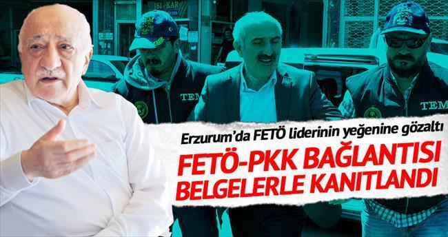 Erzurum'da FETÖ liderinin yeğenine gözaltı
