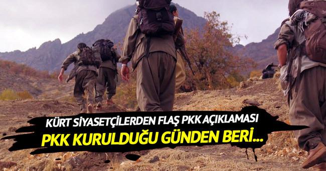 Kürt siyasetçilerden flaş PKK açıklaması