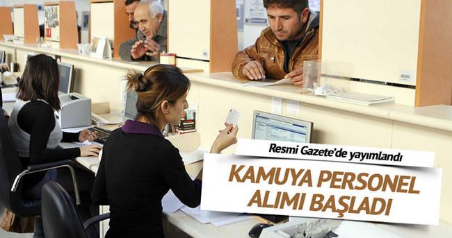 Resmi Gazete'de personel alım ilanları
