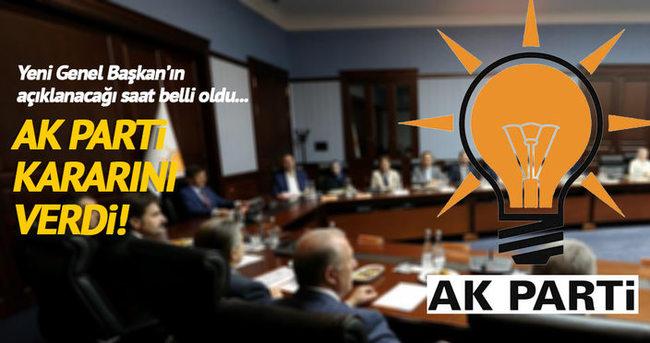 AK Parti'de genel başkan adayı yarın belli olacak