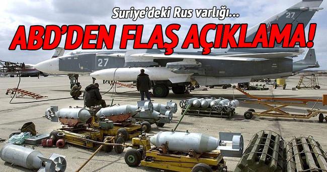 ABD'den Suriye'deki Rus varlığına ilişkin flaş açıklama!