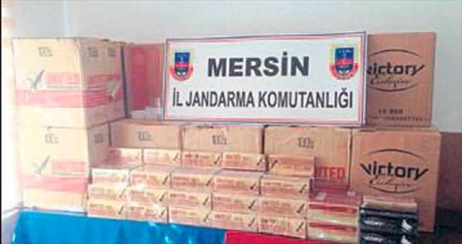 3 bin 70 paket kaçak sigaraya el konuldu