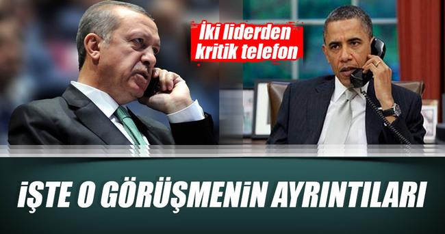 Erdoğan ve Obama terörü konuştu