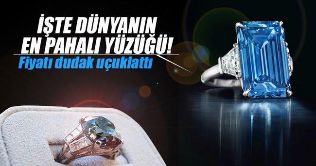 Mavi elmas rekor fiyata satıldı