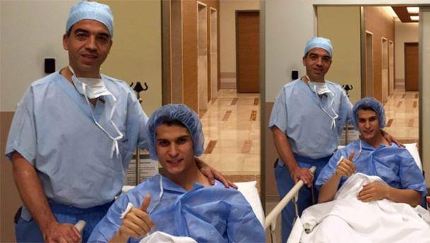 Necip Uysal'a menisküs ameliyatı