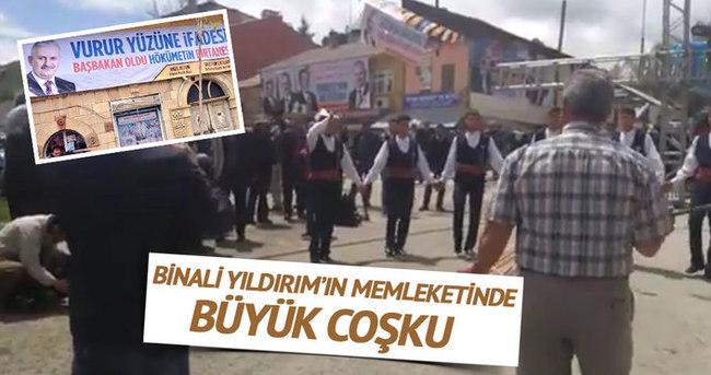 Erzincan'da Binali Yıldırım coşkusu