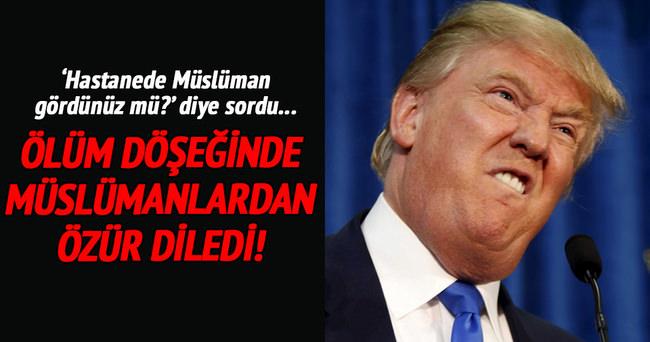 Ölüm döşeğinde Müslümanlardan özür diledi!