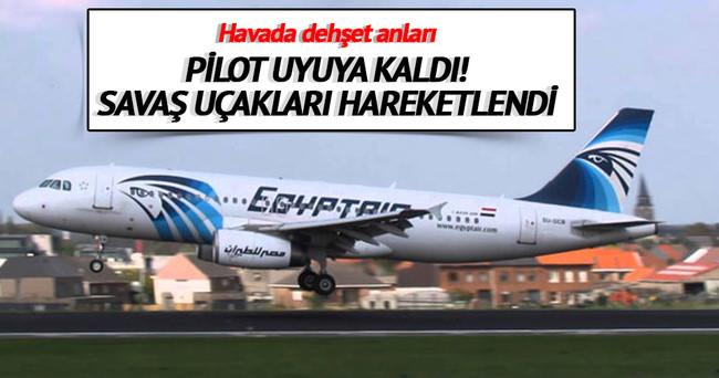 Uyuyan pilot, Yunan uçuş bölgesine girdi
