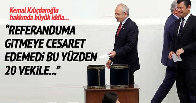 Kemal Kılıçdaroğlu referandumdan korktu!