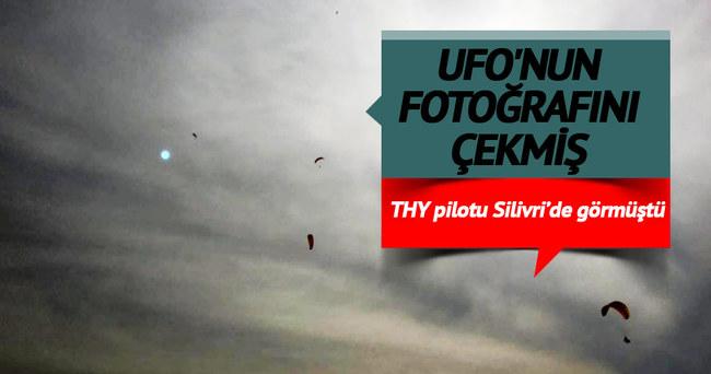THY pilotlarının Silivri'de gördüm dediği UFO'nun fotoğrafını çekmiş